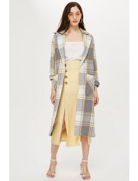Petite Check Duster Coat by Topshop