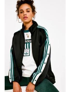 Adidas Originals Adibreak 3 Stripe Black Satin Track Top by Adidas Originals