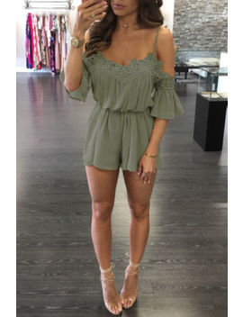Uk Womens Lace Cold Shoulder Holiday Mini Playsuit Jumpsuit Summer Beach Dress by Ebay Seller