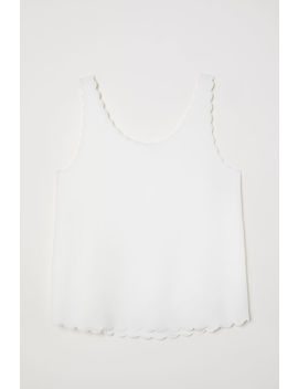 Scallop Edged Vest Top by H&M
