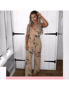 Ladies Boho Women Floral Holiday Long Playsuits Sleeveless Trouser Jumpsuit 6 16 by Ebay Seller