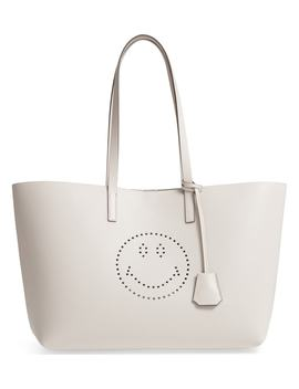 Ebury Smiley Leather Tote by Anya Hindmarch