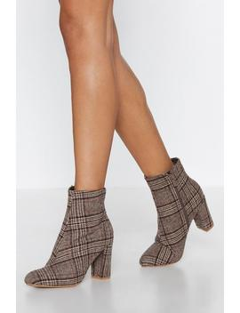 Want You So Plaid Boot by Nasty Gal