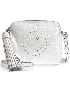 Smiley Metallic Leather Crossbody Bag by Anya Hindmarch