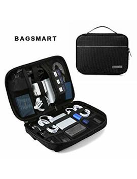 Bagsmart Travel Electronic Organizer Cases Electronics Accessories Storage Bag For Hard Drives, Cables, Black by Bagsmart