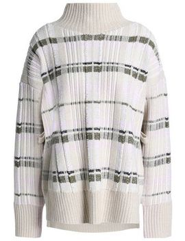 Checked Ribbed Knit Turtleneck Sweater by 3.1 Phillip Lim