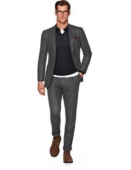 Havana Grey Plain Suit by Suitsupply