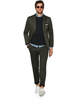 Havana Green Plain Suit by Suitsupply