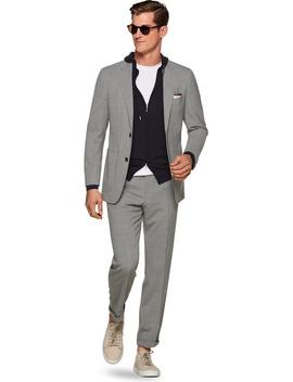 Havana Light Grey Plain Suit by Suitsupply