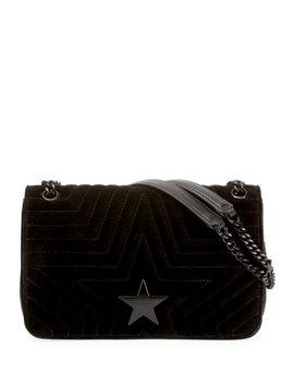 Stella Star Small Velvet Shoulder Bag by Stella Mc Cartney