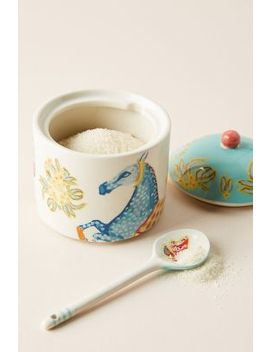 Eastern Animal Sugar Pot & Spoon Set by Anthropologie