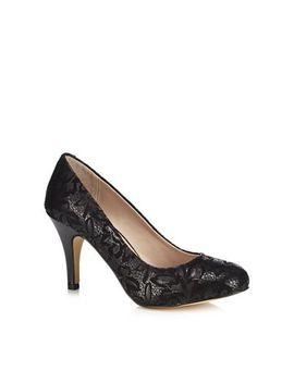 Lotus   Metallic Black 'clancy' High Stiletto Heel Court Shoes by Lotus