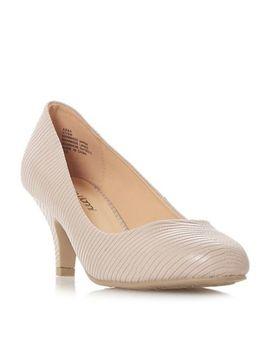 Roberto Vianni   Natural 'abba' Mid Kitten Heel Court Shoes by Roberto Vianni
