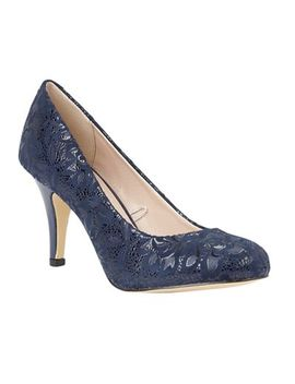 Lotus   Navy 'clancy' High Stiletto Heel Court Shoes by Lotus