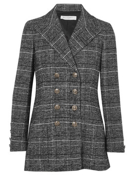 Double Breasted Checked Tweed Blazer by Philosophy Di Lorenzo Serafini