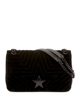 Stella Star Small Velvet Shoulder Bag by Stella Mc Cartney