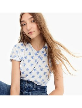 Bouquet Print T Shirt by J.Crew