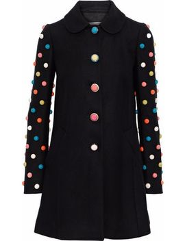 Appliqu�D Wool Blend Coat by Red Valentino
