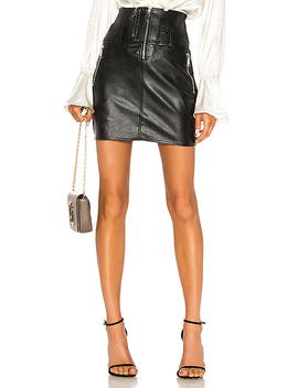 Vegan Leather Moto Skirt by Divine Heritage