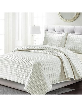 Tribeca Living Florence Velvet Quilt Set by Bed Bath And Beyond