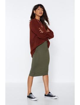 Basic Jersey Midi Skirt by Nasty Gal