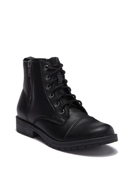 Milooh Faux Leather Combat Boot by Madden Girl