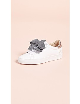 Newman Bow Check Sneakers by D.A.T.E.