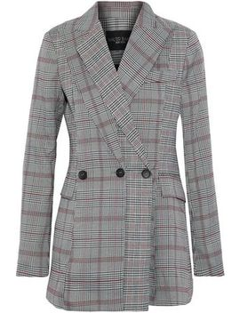 Saundra Prince Of Wales Checked Woven Blazer by W118 By Walter Baker