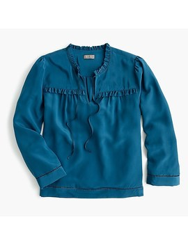 Point Sur Silk Popover Shirt by J.Crew