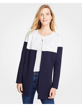 Colorblock Open Cardigan by Ann Taylor
