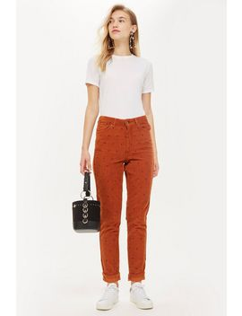 Tobacco Corduroy Mom Jeans by Topshop