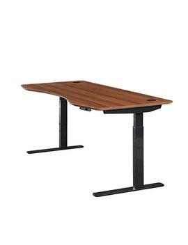"Apex Desk Elite Series 71"" W Electric Height Adjustable Standing Desk (Memory Controller, 71"" Red Apple Top, Black Frame) by Apex Desk"