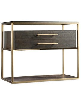 Hooker Furniture Curata Nightstand In Midnight Brown And Brushed Brass by Hooker Furniture