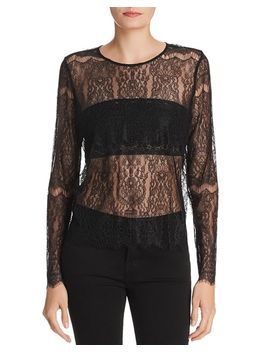 Asher Sheer Lace Top by Cami Nyc