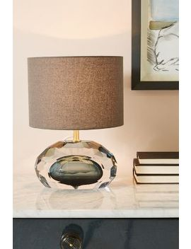 Mara Faceted Lamp Ensemble by Anthropologie