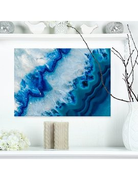Design Art 'geode Slice Macro' Graphic Art On Wrapped Canvas & Reviews by Design Art