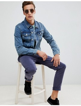Selected Homme Blue Denim Wash Jacket by Selected