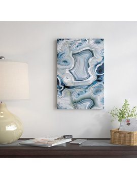 East Urban Home 'sterling Sapphire Geode' By 5by5collective Graphic Art On Wrapped Canvas & Reviews by East Urban Home