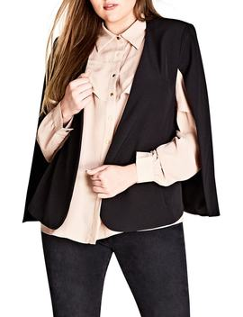 Jacket Sharp Cape by City Chic