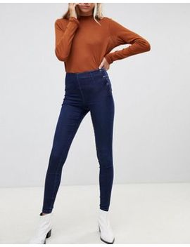 Pieces Paro Superstretch Skinny Jeans With Popper Waist by Pieces
