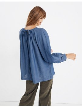Denim Tie Back Top by Madewell