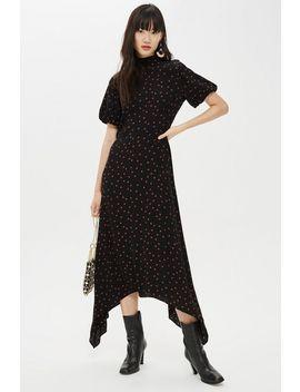 Spot Hanky Hem Midi Dress by Topshop