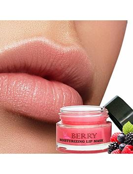 Moisturizing Green Tea Berry Sleeping Lip Mask Balm, Younger Looking Lips Overnight, Best Solution For Chapped And Cracked Lips, Unique Formula And... by Once Upon A Tea