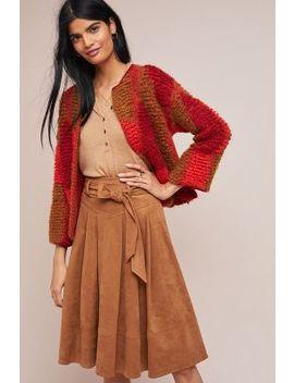 Faux Suede A Line Skirt by Akemi + Kin
