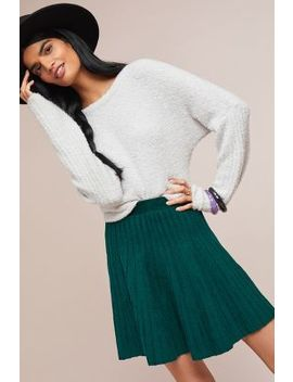 Sweater Knit Skater Skirt by Meadow Rue