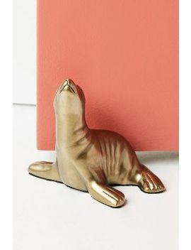 Seal Doorstop by Anthropologie