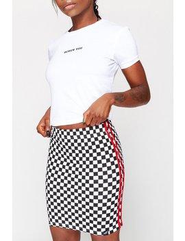 Checkerboard Mini Skirt by Goodbye Bread