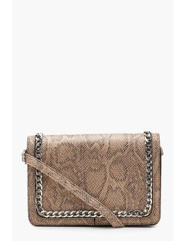Faux Snake And Chain Cross Body by Boohoo