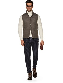 Brown Padded Vest by Suitsupply