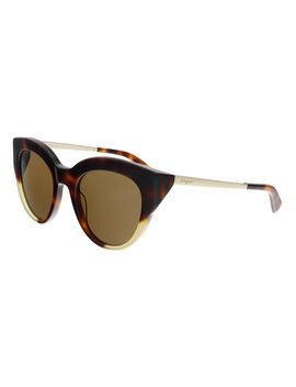 Sf855s 276 Tortoise Cat Eye Sunglasses by Salvatore Ferragamo